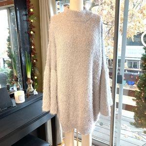 Fuzzy Knit Sweater w Bell Sleeves